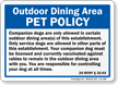 New York Dogs Allowed Sign