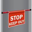 Stop Keep Out Door Barricade Sign