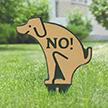 No Poop Dog Silhouette Gardenboss Petite Lawn Stake Sign