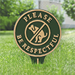 Please Be Respectful No Poop Dog Lawn Stake Sign