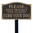 Help Protect Plants Statement Lawn Plaque