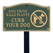 Dog Urine Kills Plants Statement Lawn Plaque