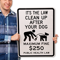 Public Health Law - Maximum Fine $500 Sign