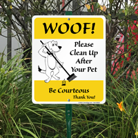 Be Courteous Pick Up Poop Signs Kit