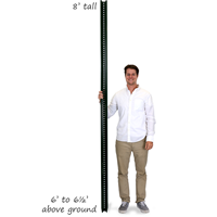 High Strength U-Channel Sign Post - 8' tall