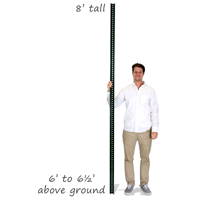 Standard U-Channel Sign Post - 8' tall (2-1/4' Wide)