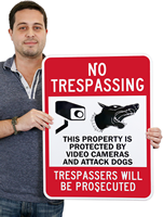 No Trespassing Trespassers Will Be Prosecuted Sign