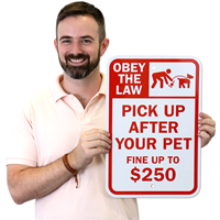 Pick Up After Your Pet Signs