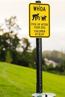 Pick Up After Dog, Children At Play Sign