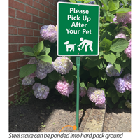 Pick up after your pet sign for yard