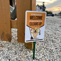 Clean up after your dog lawn sign