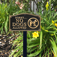 No Dogs Allowed Plaque Sign