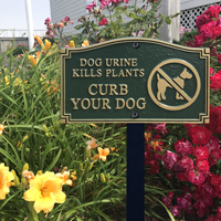 Dog Urine Kills Plants With Stake Plaque