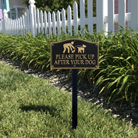 Pick Up After Your Dog Statement Lawn Plaque