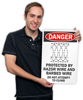 Barbed Wire Warnings