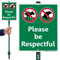 Please Be Respectful No Dog Pee LawnBoss Sign