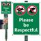 Please Be Respectful No Dog Pee LawnBoss Sign