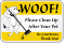 Clean Up After Your Pet Be Courteous Sign