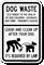 Dog Waste Threat Leash Dog Sign