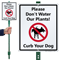 Curb Your Dog with Graphic Sign