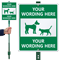 Custom Dog Symbol LawnBoss Sign