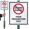 Custom No Lawn boss™ Sign