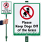 Keep Dogs Off The Grass Lawnboss Sign Kit