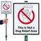 Not A Dog Relief Area Lawnboss Sign