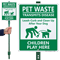 Leash-Curb Clean Up Children Play LawnBoss Sign
