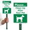 Please Clean Up After Your Pet LawnBoss Sign