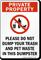 Do Not Dump Trash Sign