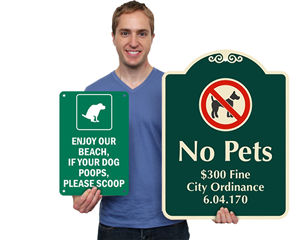 NO DOG PEE AND POOP sticker decal WITH CUSTOM TEXT ST799