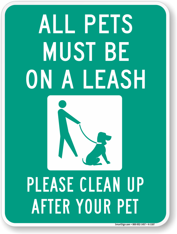 graphic regarding No Pets Allowed Except Service Animals Sign Printable named Puppy Leash Indications Canine Ought to Be Upon A Leash Indications