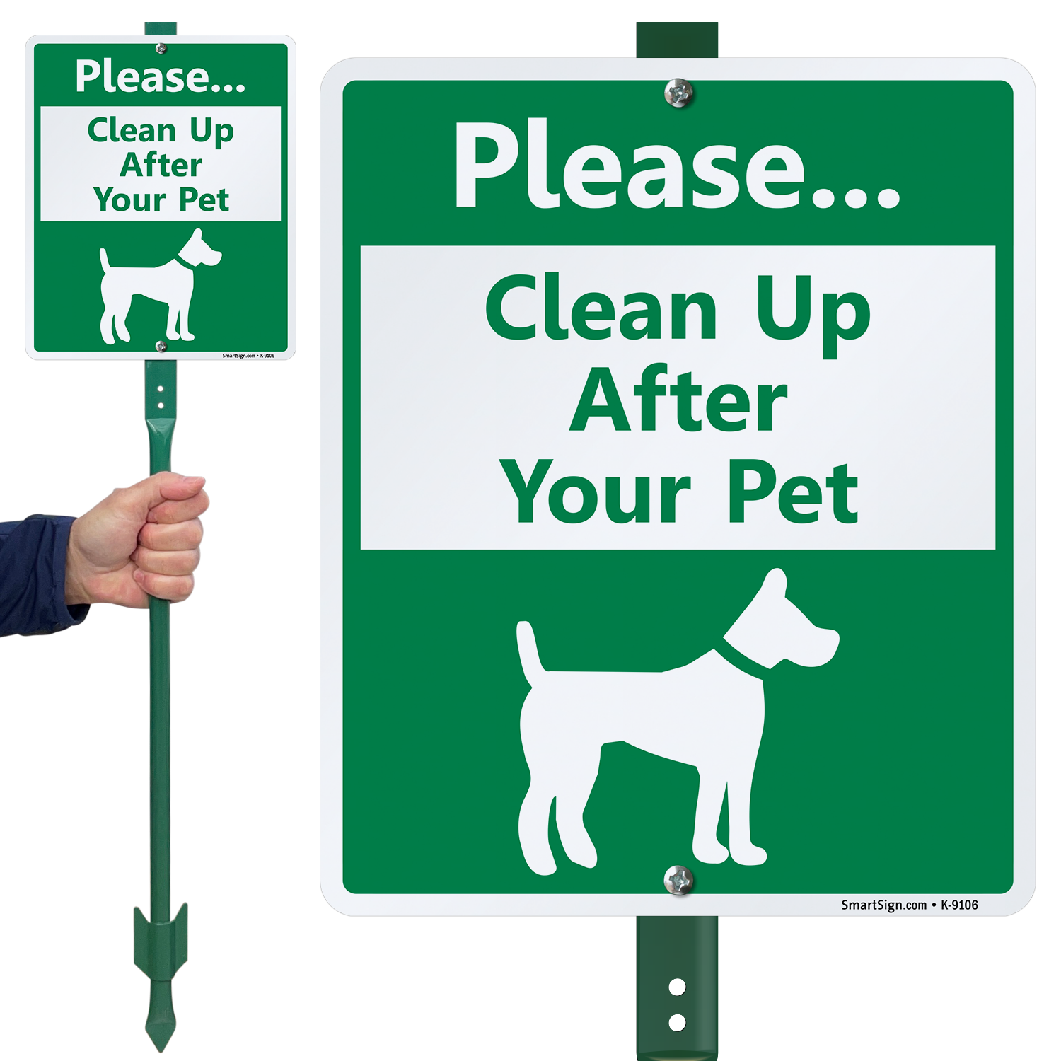 Clean Up After Your Pet Sign Lawnboss