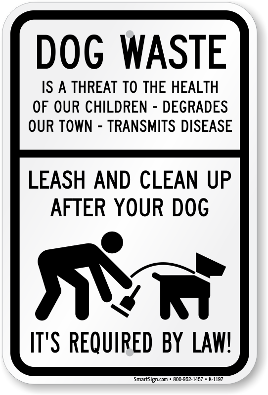 Dog Poop Signs - Keep your Lawn Poop Free with Curb Your Dog