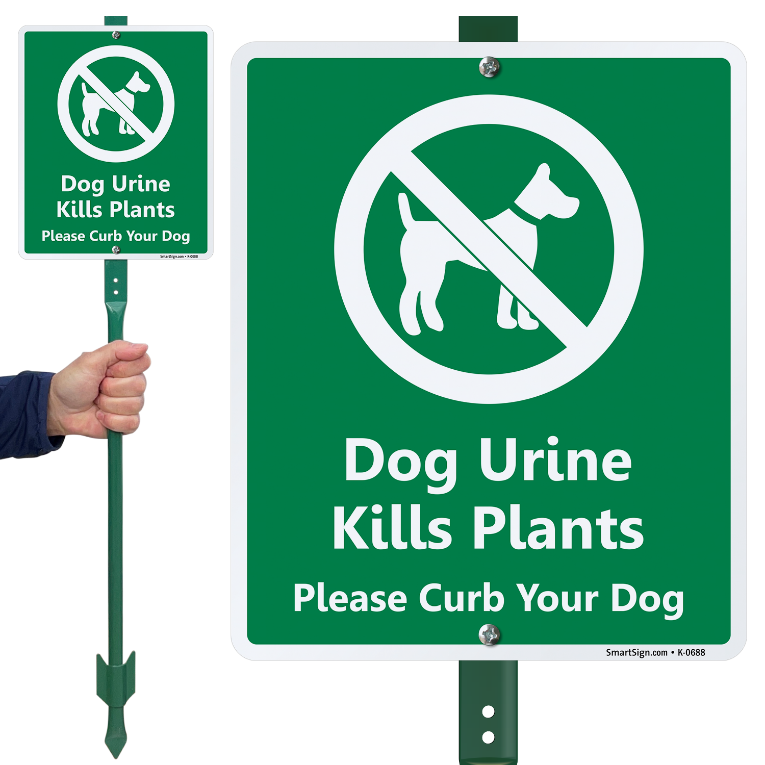 Dog Urine Kills Plant Curb Your Dog Lawnboss Sign Sku
