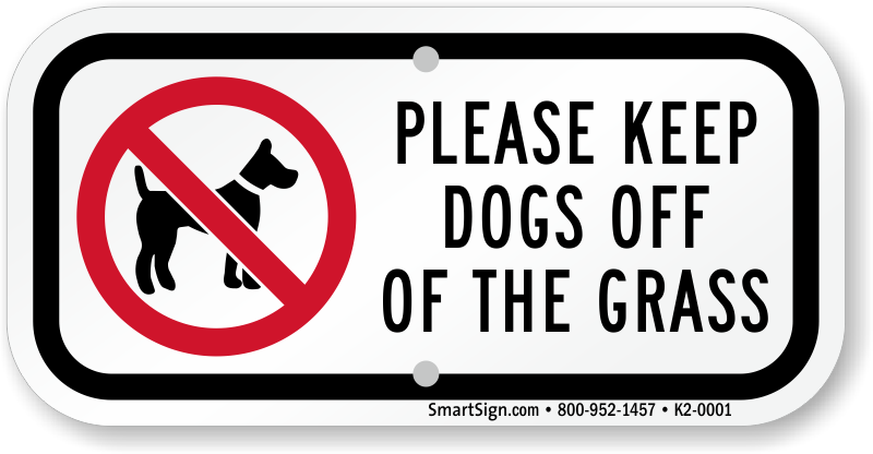 keep dogs off lawns