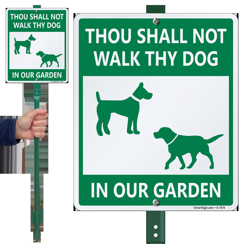 Humorous Dog Poop Signs - Funny Dog Poop Signs