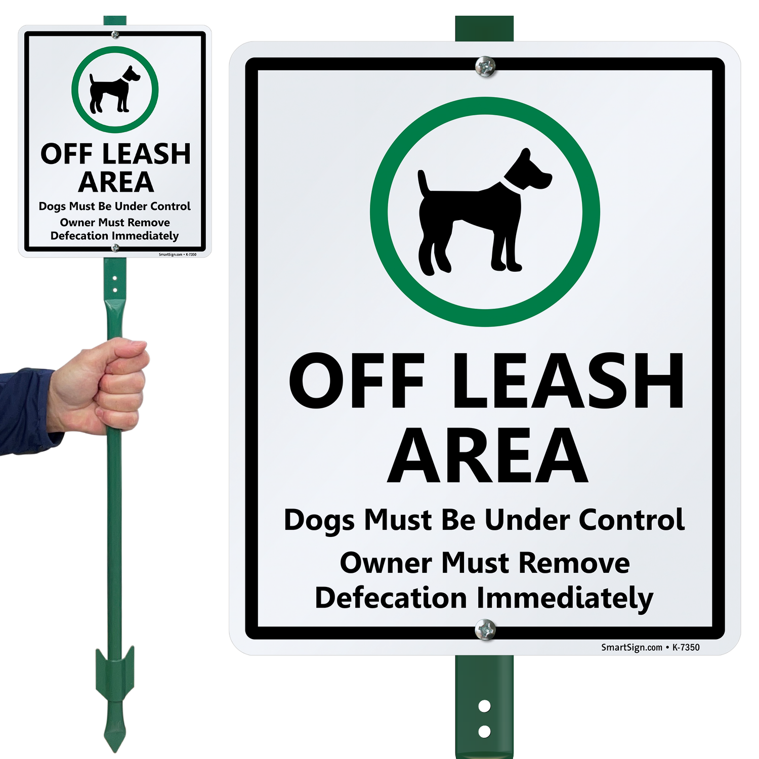 Dog Poop Sign Off Leash Area Dogs Must Be Under Control