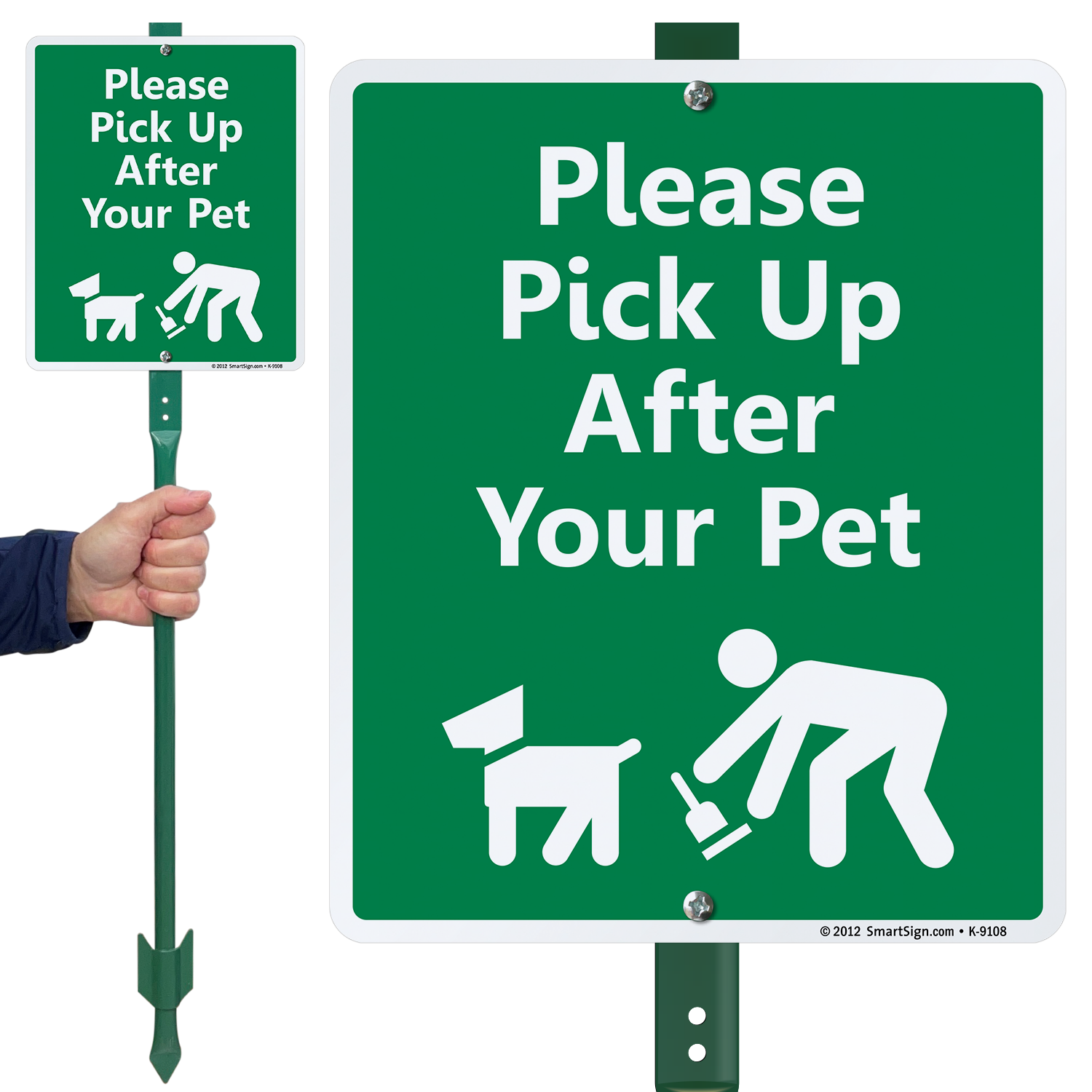 Dog Poop Signs Keep Your Lawn Poop Free With Curb Your