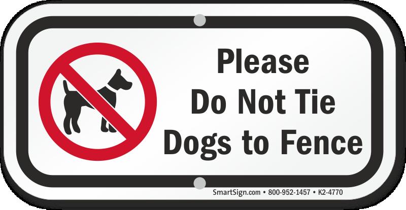 Dog Park Regulation Signs