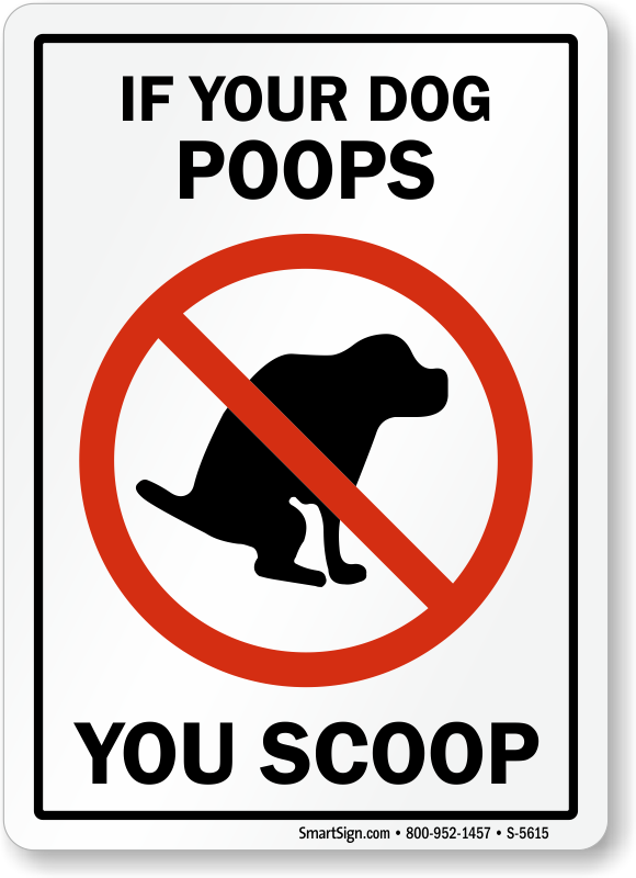 Humorous Dog Poop Signs - Funny Dog Poop Signs