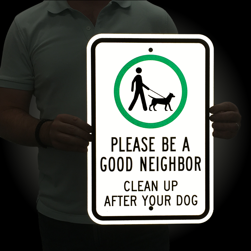 Clean Wholesome: Please Be A Good Neighbor Clean Up Sign