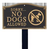 No Dog And Curb Dog Plaques Elegant Cast Aluminum